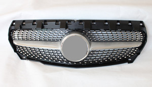 2014-2019 year Diamond Mesh Grille For CLA CLASS W117 ABS Material Racing Grille Grills Replacement Front Grille Front Bumper