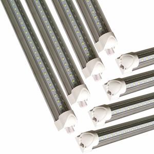 T8 Integrate V Shape LED Tube Light 2400mm 2.4m 240cm 8ft 4ft 5ft 6ft T8 LED Tubes Lamp 8 feet 72W Cooler Door Bulb Light