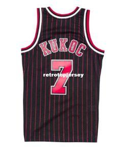 Cheap Custom TONI KUKOC #7 Pinstripe HARDWOOD CLASSIC Top Jersey Retro Mens XS-6XL Stitched basketball jerseys Ncaa