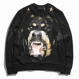 19SS Menshoodies-Mode Männer Frauen Freizeitjacke Paare Herbst lose Hoodies Stars And Dog Printing Sweatshirt