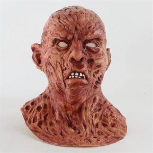 Realistische Adult-Partei-Kostüm Horror Maske Deluxe Freddy Krueger Maske Scary Tanz Karneval Cosplay Zombie T200116 Maske