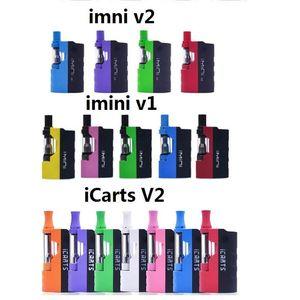 100% Original Imini V V2 Mod Kit 650mAh Preheat Box Battery Variable Voltage with 0.5  .0ml Vape Cartridge for Thick Oil 3