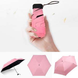 Women Luxury Lightweight Umbrella Black Coating Parasol 5 Fold Sun Rain Umbrella Unisex Travel Protable Pocket Mini Umbrella