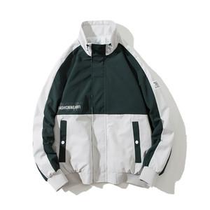 Winter Große Herren Jacke Wind Street Coton dünne Hip Hop karierte Jacke Men Fashion Chamarras Hombre Herren Mantel JJ60JK