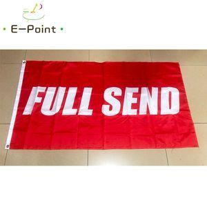 Completa Invia Bandiera 3 * 5ft (90cm * 150cm) Bandiera poliestere Bandiera decorazione casa volanti giardino bandiera Regali festivi