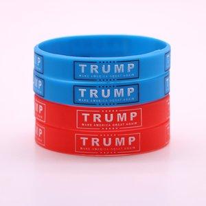 Echootime ترامب إبقاء أمريكا العظمى 2020 سيليكون معصمه الأحمر الأزرق ترامب فرقة دعم المطاط الأساور الأزياء والمجوهرات هدايا