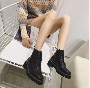 Hot Sale-Autumn and winter new Martin boots handsome British fan car ladies boots