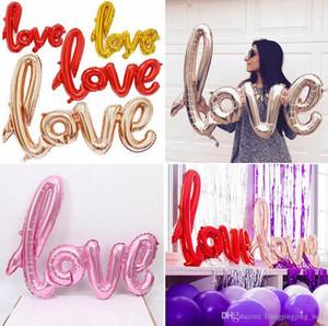 Carta de amor folha de alumínio balão 108 * 64cm Folha balões de hélio casamento Birthday Party Decor Props Celebration Supplies LJJ_OA4605
