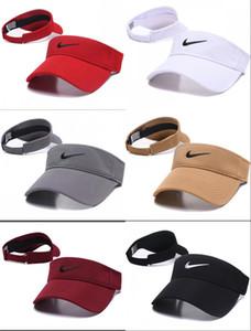 2020 neues Design Golfhut Sonnenblende sunvisor Partyhut Baseballmütze Sportkappen Sonnenschutz Hut Tennis Strand elastische Hüte leere obere Kappe