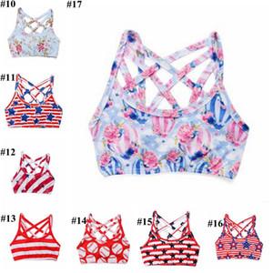 Kids Designer Clothes Girls Tank Top Baby Summer Printed Crop Tops Cotton Soft Suspender Vest Child Home Casual Undershirt Top Shirt A7417
