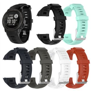 Sport Bracelet en silicone pour Garmin Bracelet Instinct Quick Release Rubber Band sangles de remplacement