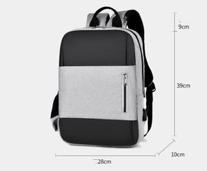 Saco de escola impermeável Moda USB Mochila Casual Travel Bag Men Backpack Negócios Computer Backpack 2017 novo tamanho