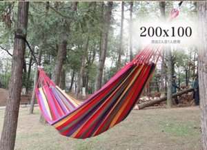 NEW Cotton Fabric Hammock Air Chair Hanging Swinging Camping Outdoor security