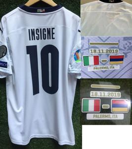 2020 Lejos Italia Jersey Verratti Insigne inmóvil Jorginho Bonucci Con Vs Armenia Bosnia y Herzegovina detalles de ajuste de la camisa