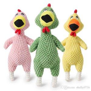 Gritando Squeeze frango som de brinquedo Animais Dog Toys Produto Shrilling Descompressão Ferramenta Squeak ventilação Toy frango