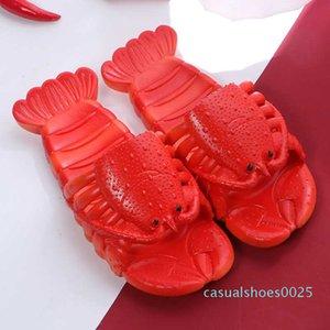 Kadınlar Ayakkabı Yaz Istakoz Sandalet 2020 Yeni Kaymaz Plaj Aile Komik Istakoz Terlik c25