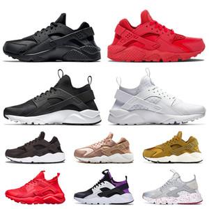 nike huarache clásicos baratos de descuento Huarache Hombres Mujeres Running Shoes Triple Negro Blanco Rojo Oro Rosa Formadores libre huaraches las zapatillas de deporte