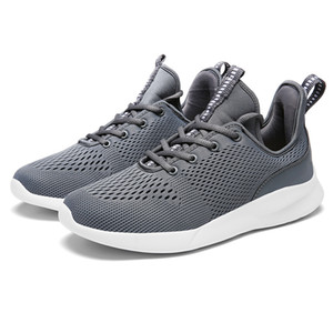 2020 Fashion Mens Running Shoes Black White Grey Mesh Breathable Sports Sneakers Mens Trainers Homemade brand Made in China size 39-44