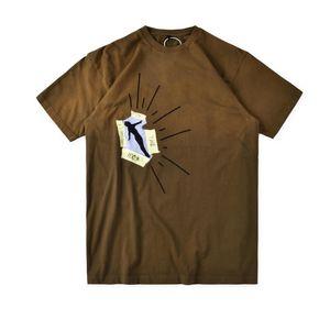 Mens T-Shirts Mode-Kaktus-Jack Höchste im Raum gewaschene High Street Kurzarm Casual Hemden