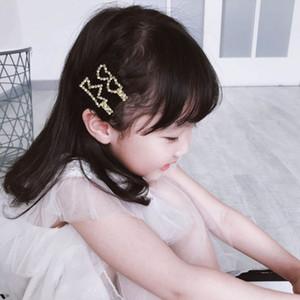 Dos grampos de cabelo WEIXINBUY Meninas Mulheres Pin bonito Pérola metal Pin cabelo Barrette Crianças Hairpin Princesa Partido Acessórios
