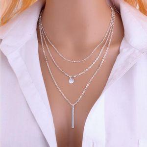 Jolie Choker Charm Bijoux Steampunk Colliers Pendentif Boho Cuivre Perle Multilayer Collier pour Femmes Hommes Bar en couches Tassel Collier de chaîne