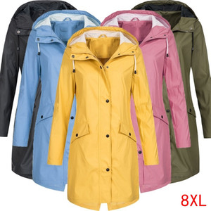 Women's Jackets Plus Size Big 6XL 7XL 8XL Bust 132cm Large Hooded Jacket Autumn And Winter Long-sleeved Loose