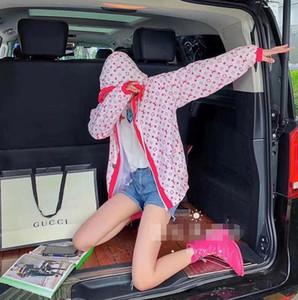 chaqueta de protección solar para las mujeres en la primavera / verano versión coreana delgada holgada estudiante encapuchado del uniforme del béisbol de impresión de cuerpo completo celebridad web