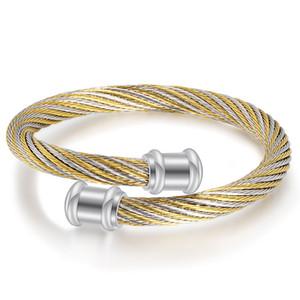 Best Selling Luxury Stainless Steel Mens Bracelets Retro Titanium Steel Open Cuff Bracelet Designer Bangles Gifts Jewelry