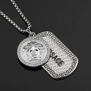 Mens Hip Hop Дизайнер ювелирных изделий Iced Out серебристые покрыло Мода Bling Bling Голова льва Подвеска Мужчины ожерелье