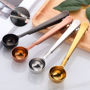 Edelstahl Messlöffel Mit Beutel Verschlussklammer Kaffee Obst Milchpulver Eis Würztee Messlöffel Kitchen Bar Tool