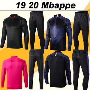 19 20 Mbappé traje de entrenamiento de fútbol para hombre ICARDI jerseys CAVANI DRAXLER DI MARIA chándal del kit del Verratti Matuidi rojo azul de las camisas del fútbol