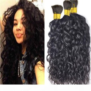 hot Wholesale Human hair bulk brazilian natural wave bulk hair for braiding human hair 3pcs lot no weft