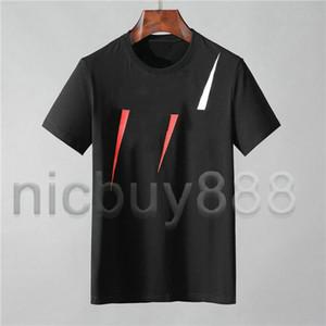 vestuário para homens Europa Itália T-shirt de retalhos cor carta de impressão tag tshirt T mulheres Casual tshirts camiseta Top tee