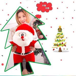 Nette kreative Puppe Weihnachtsweihnachtsplüschtiere Cartoon-Einfluss-Kissen Ferien Kinder Weihnachtsgeschenk 25cm WY499Q