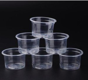 DHL 5oz Disposable Jelly Cup Mini Plastic Round Portion Pudding Mug Transparent Jello Souffle Jam Shot Cups With Lids n2