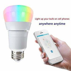 Inteligente WIFI Bulb WiFi Remoto Lâmpada Controle Smart LED 8W E27 RGB Luz Para echo Alexa Página inicial do Google inteligente WIFI Bulb 30A22
