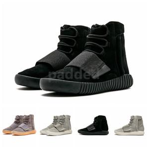 Clásico SPLY 750 Kanye West High Running Calzado deportivo marrón claro Grey Gum Triple Negro para hombre de las botas del tobillo de las mujeres zapatillas de deporte de diseño