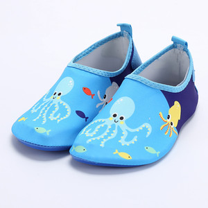 Children Floor Learner Shoes Water Park Sandals Seaside Play Shoes Breathable Men And Women Water-skiing Red Foot Patch Skin Sho