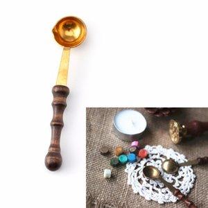 BrassWood cuillère pour fondre la cire fondue Dissoudre Wax Seal Stamp enveloppe Craft-M18 Bougies