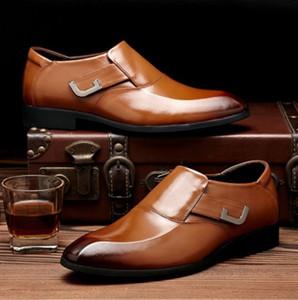 schwarze Oxford-Schuhe für Männer Brautkleid 2020 zapatos de hombre de vestir formale Schuhe Männer zapatos vestir elegante hombre