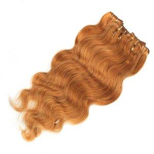 Honey Blonde européenne Hair Weave Bundles Couleur 27 # Corps européen Vague humaine Cheveux blonds européenne Cheveux Vierge Pas Shed Vente chaude