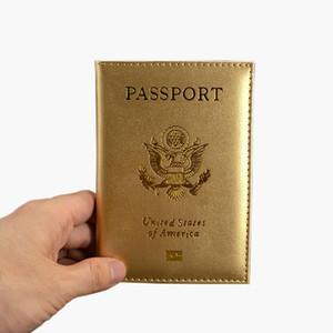 Vente chaude Passeport Mignon USA Voyage couverture Femmes Rose USA Passport Holder 9 Couleurs américaines Couvertures pour les passeports filles Passport Case Wallet