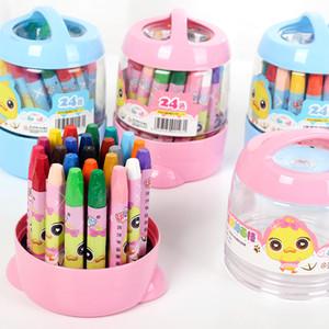 24 Farben Öl Crayon Pen-Set Farben Malzubehör für Kinder Drawing Set Öl Pastellkreide Kindersicherheit Ungiftiger Pastel