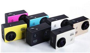 """الرياضية HD عمل الكاميرا الغوص 30M 2 """"140 ° متر مقاوم للماء كاميرات كامل 1080p HD SJcam خوذة تحت الماء الرياضة DV DVR سيارة رخيصة A9"""