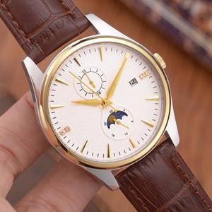 boutique assistir top movimento mecânico automático dos homens de luxo importados PU pulseira de couro genuíno calendário moda casual relógio 41 milímetros 12 milímetros l2
