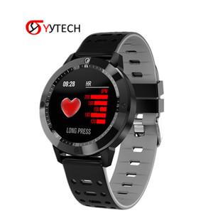 Pressione SYYTECH nuovo CF58 IPS HD Smart orologio colore fitness frequenza cardiaca Sangue orologio sportivo smart Bracciale Fitness Tracker intelligente Wristband