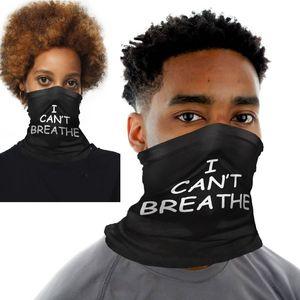 Non posso Breath protezione solare Copricapo Sciarpa Estiva esterna che guida Mask I Cant Breathe mascherine del partito Sciarpa Viso