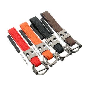 De lujo del cuero del diseñador de moda llavero letra H Llaveros Man regalos llaves del coche del sostenedor accesorios encantos colgante del bolso Anillos clave para las mujeres de los hombres
