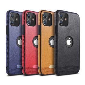 لiPhone11pro ماكس 11pro ماكس XS XS XR سامسونج Note10 S10Leather نمط خياطة حالة الهاتف TPU لينة شل حماية كاملة مكافحة الإفلات من حالة