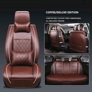 3D Universal-Auto-Sitzabdeckung Breathable PU-Leder-Auto-Sitzabdeckung Beige für Land Rover Freelander 2 Sitzbezüge X9 Range Rover Sport